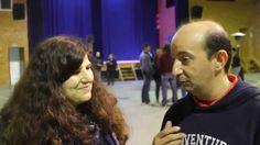 Francisca à conversa com António Ronnebeck na Aula Magna da Universida...