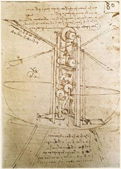 Flying machine - Leonardo da Vinci     c 1487    Institut de France, Paris,