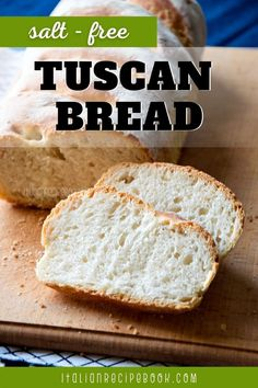 Among all Italian bread recipe Tuscan Bread or Pane Toscano has a special place. Not only it's a salf-free bread, it is also used as a main ingredient in many Italian recipes! Italian Recipe Book, Italian Bread Recipes, Italian Bakery, Rustic Bread, Savory Pastry, Cheese Pies, Pizza Bites, Baking, Food