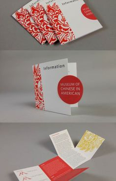 """""""Museum of chinese in american"""" promotion brochure #PACKAGING"""