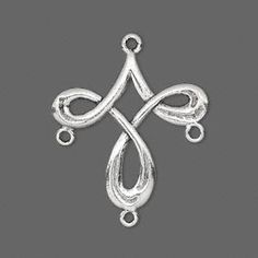 Drop, pewter (tin-based alloy), 27x27mm double-sided cross. Sold per pkg of 2. - Fire Mountain Gems and Beads