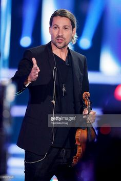 German violinist David Garrett during the tv show 'Willkommen bei Carmen Nebel' at Velodrom on October 1, 2016 in Berlin, Germany.