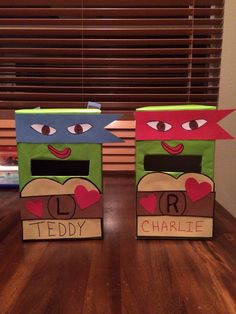 Ninja Turtle Valentine Box Change to all  black for a ninja box
