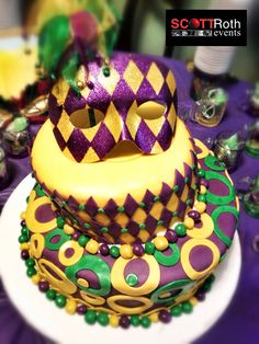 Mardi Gras Themed Sweet  Birthday Cake Sweet  Birthday Cake Th Birthday Themed