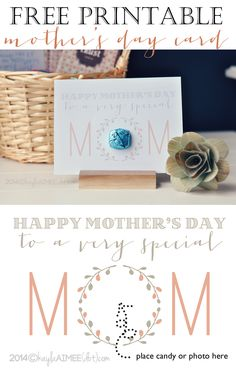 A Mother's Day Gift For NICU Moms   Free Printable Mother's Day Card