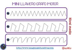 Llavero para trabajar la Grafomotricidad diferentes niveles - Imagenes…
