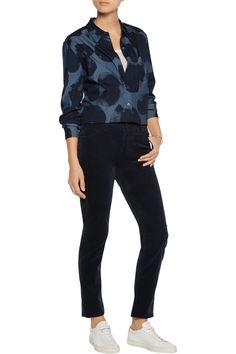 Tomas MaierCotton-blend velvet skinny pants