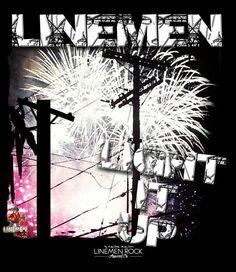 Linemen light it up- lineman shirts Lineman Shirts, Ferris Wheel, Fair Grounds, Memes, Travel, American, Viajes, Meme, Destinations