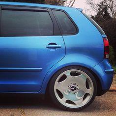 Swagga on a Phat Rim Convertible, Volkswagen, Polo, Wheels, Cars, Polos, Polo Shirt, Tee Shirt