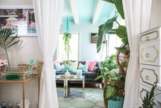 House Tour: Colorful Palm Beach Regency Style Home | Apartment Therapy                                                                                                                                                                                 More