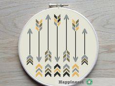cross stitch pattern arrows arrows native PDF by Happinesst