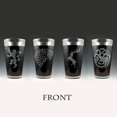 Game of Thrones Dual Sided House Pint Glass Set