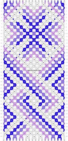 Normal friendship bracelet pattern variation added by morgan_roo. Diy Friendship Bracelets Patterns, Embroidery Bracelets, Irish Celtic, Spring Nature, Diamond Flower, Cute Pattern, Paracord, Nifty, Bracelet Making