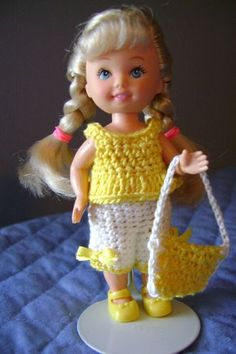 Kelly Doll w/Handmade Crochet Dress #3