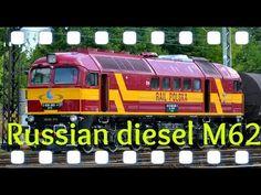 Russian diesel locomotive M62 with heavy tanker - YouTube Diesel Locomotive, Trains, Youtube, Youtube Movies