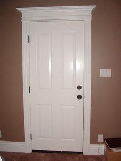 Craftsman exterior door trim painted craftsman style for What is the trim around a door called
