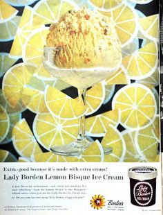 Lady Borden Lemon Bisque Ice Cream...mmm! That sounds lovely...I am so missing my Blue Bell this summer *sighs*