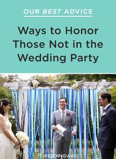 We have 10 ways for you to honor loved ones not in a wedding - click now for advice! #wedding #advice #tips