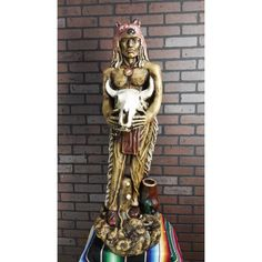 Indian sorcerer made of plaster. Its size is 40 inches  Made in Mexico. Indian sorcerer Reference:  INSO-WE292