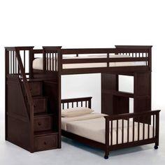 Staircase Loft Bed Hochbett, Jungenzimmer, Loft Betten, Etagenbett Mit  Treppe, Kinderzimmermöbel,