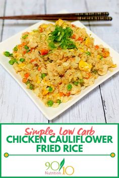 This simple Chicken Cauliflower Fried Rice Recipe will make you forget that regular rice ever existed. Clean Eating Recipes For Dinner, Healthy Meals For Kids, Healthy Eating, Rice Recipes, Real Food Recipes, Healthy Recipes, Asian Recipes, Keto Recipes, Cauliflower Fried Rice