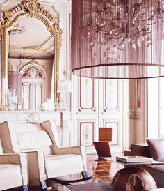 Haute Design by Sarah Klassen: Interior: Decorative Details Living Room Designs, Living Spaces, Living Rooms, Family Rooms, Mirrors And Chandeliers, Birdcage Chandelier, Antique Interior, Interior Decorating, Interior Design