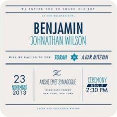 2013 Invitation Trends - Vintage Bar Mitzvah Invitations - mazelmoments.com