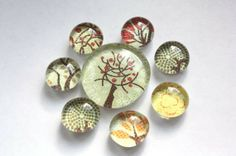 hug a tree. glass marble magnets, refrigerator magnets, bubble magnets, fridge magnets, party favor magnets, $8.00