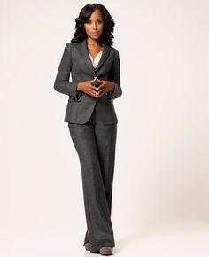 TV Fashion * Show: Scandal * Actress: Kerry Washington * Character: Olivia Pope * Suit: Armani * Shoes: Chloe