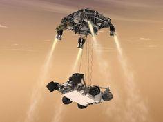 NASA - Curiosity's Sky Crane Maneuver, Artist's Concept