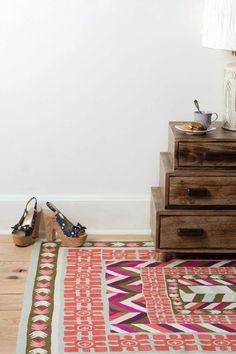 anthropologie's kiara rug via sfgirlbybay Pretty Things, Deco Boheme, Bohemian House, Interior Exterior, Interior Balcony, Home Rugs, Contemporary Rugs, Interior Inspiration, Rug Inspiration