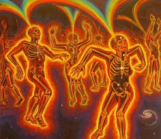 Alex Grey art energy dancing, love this SO much! star dancers skeltons vibes dance love freedom oneness rainbow club