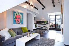 Ideas para decorar departamentos pequeños - http://www.decorationtrend.com/bedroom/ideas-para-decorar-departamentos-pequenos/