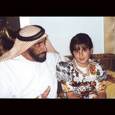 Zayed bin Sultan Al Nahyan y Maryam bint Mohammed bin Rashid Al Maktoum. Vía: alk7aileh_almaktoum