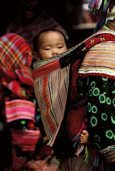 The Hmong people ( Miao ) migrated from China To Vietnam and Laos.