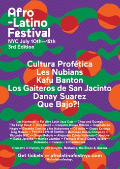 Afro Latino Festival July 10th-12th 2015