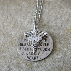 Nurses Prayer LPN or RNP Charm Handstamped Necklace by WireNWhimsy, $30.00