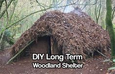DIY Long Term Woodland Shelter - Have you ever given thought to the unlikely chance of having to bug out and you have no where to go? No other safe house? This is a plausible way to live if SHTF, we lived like this for thousands of years, so its a proven way to live.