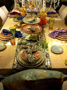 Tablescape ~ L'Objet Pour Fortuny at Harrods