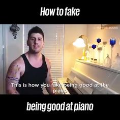 How to Fake Playing the Piano - funny / cute - Art Funny Vid, Stupid Funny, Funny Jokes, Hilarious, Piano Songs, Piano Music, Sheet Music, Simple Life Hacks, Useful Life Hacks