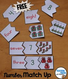 FREE Number Match Up for Christmas!