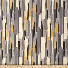 Nomad Fractured Stripe Grey from @fabricdotcom  Designed by Jen Fox for P&B Textiles, this cotton print fabric is perfect for quilting, apparel and home decor accents. Colors include shades of grey, gold, black and cream. The stripe runs parallel to the selvedge as pictured.