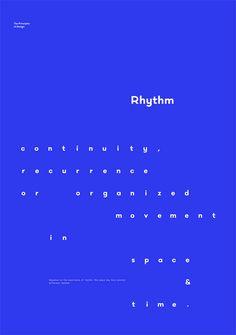 Rhythm – The Principles of Design poster serie by Gen Design Studio #poster #minimal #typographic