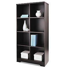 Realspace Magellan 8 Cube Bookcase 63 38 H x 30 18 W x 15 58 D Espresso,  Offers plenty