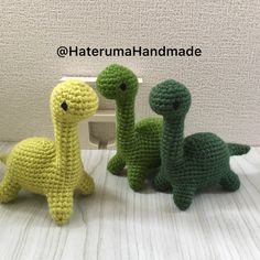 Recently I have been searching for no-sew crochet patterns to speed up my production to beef up my inventory for craft events. I stumbled across this darling little dinosaur and had to try it out. Crochet Bee, Kawaii Crochet, Quick Crochet, Crochet Cross, Cute Crochet, Crochet Yarn, Crochet Animal Patterns, Crochet Patterns Amigurumi, Crochet Animals