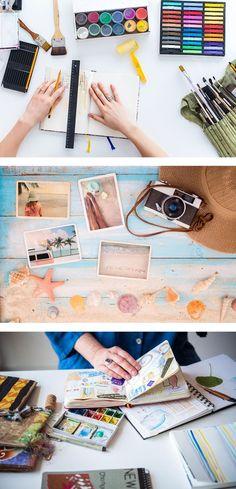 Online creative classes // creative journaling // photography tutorials