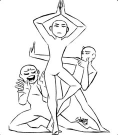 Drawing Body Poses, Body Reference Drawing, Drawing Reference Poses, Funny Drawings, Art Drawings Sketches Simple, Drawing Techniques, Drawing Tips, Drawing Face Expressions, Drawing Templates