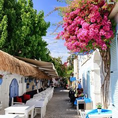 #alacati #cesme #Turkey Beautiful Streets, Beautiful Places In The World, Great Places, Places To Go, Alacati Turkey, Travel Around The World, Around The Worlds, Holiday Resort, Turkey Travel