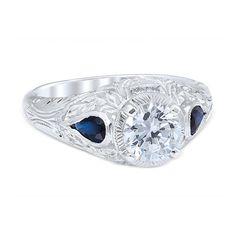 New Vintage Edwardian Engagment Ring Round by JosephDiamonds