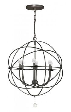 The ever popular Solaris family of pendants by Crystorama look great as large singles, or hung in pairs over dining rooms or kitchen islands. These are a good transitional choice; they look great with traditional and contemporary surroundings.  SKU 29CJE | Phillips Lighting & Home